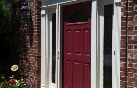 Woodgrain Finish Retractable Door Screens